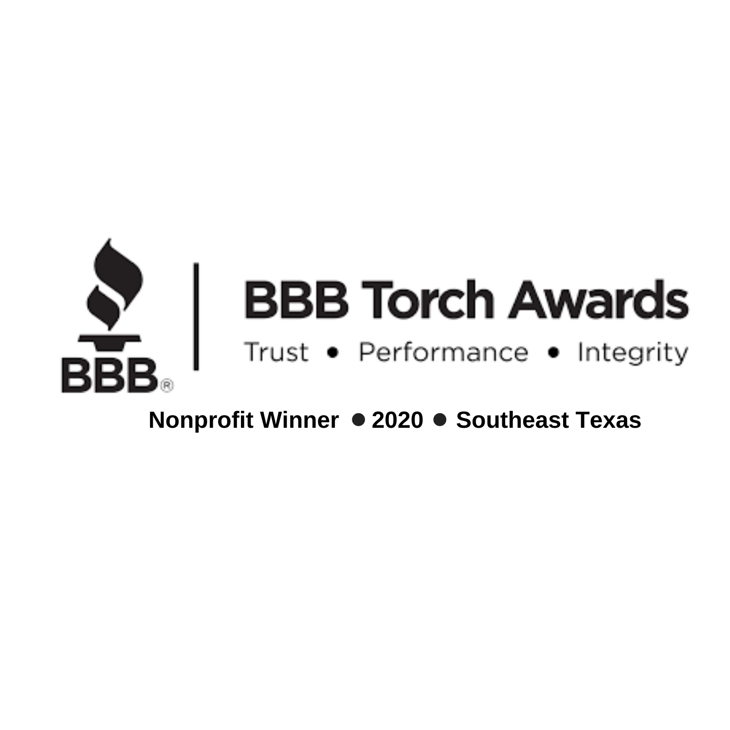 2020 Torch Award Nonprofit Winner Logo Black