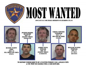 Hardin County Most Wanted 9-12-16