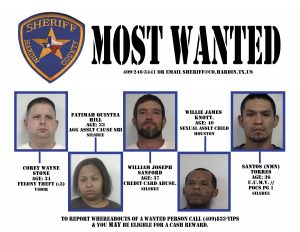 Hardin County's Most Wanted 9-06-16